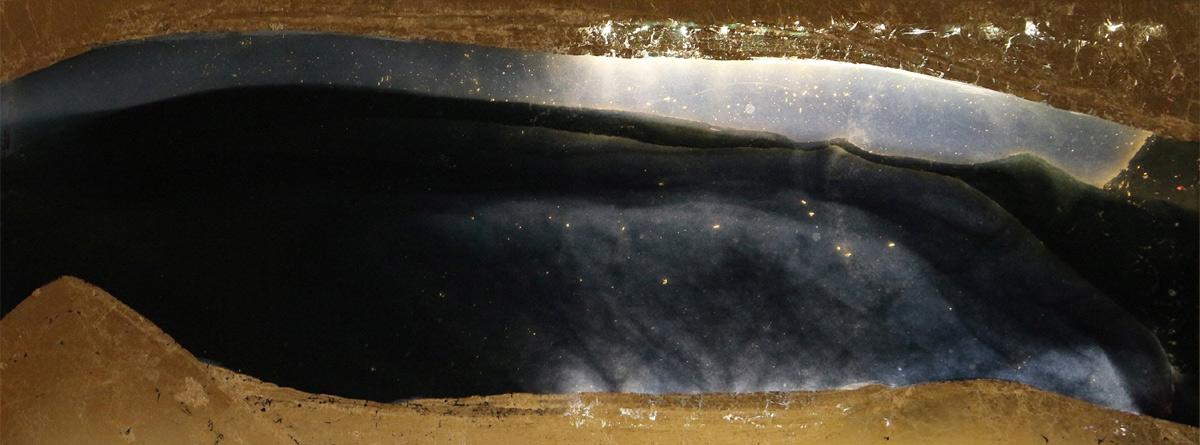 Radiophonie, Pièce n°8, 2014, or, retro-éclairée, 54 x 21 cm
