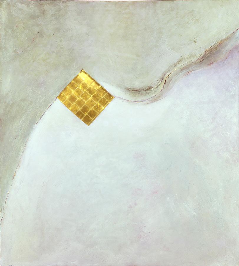 Cavalier blanc, 2007, 2,56 x 2,29 m, cire, or, lumière