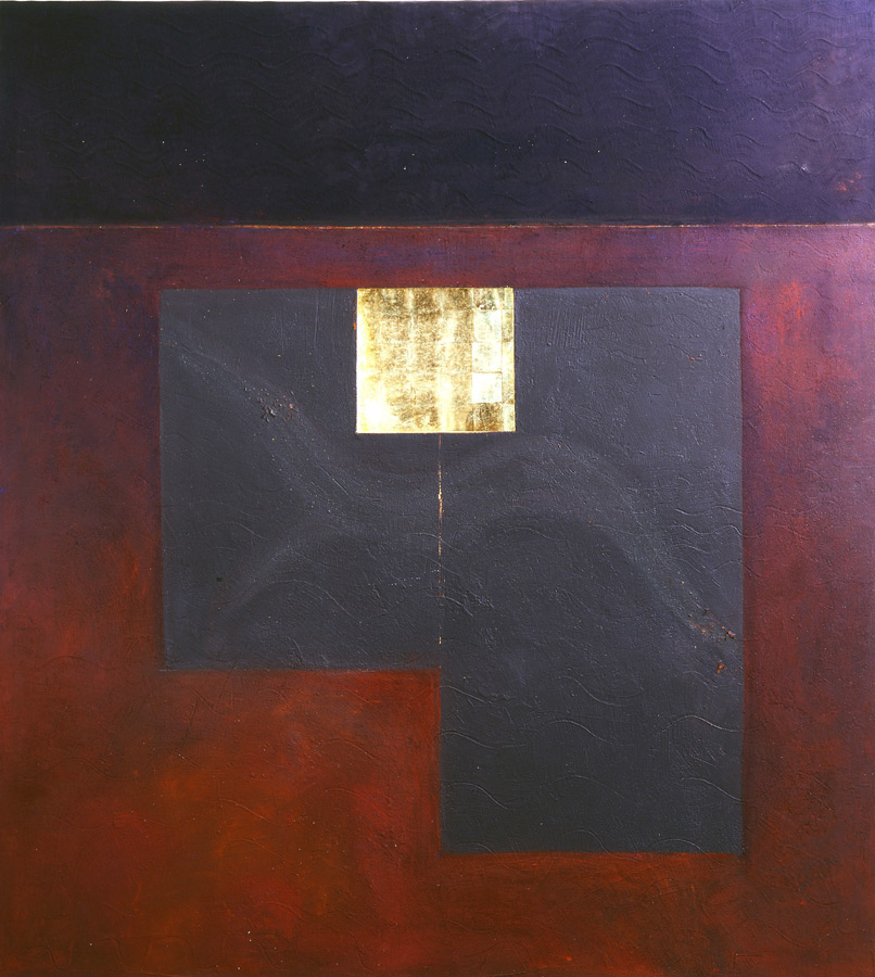 Cavalier Noir, cire, or, lumière (retro éclairé) 2,29 x 2,56 m, 2007