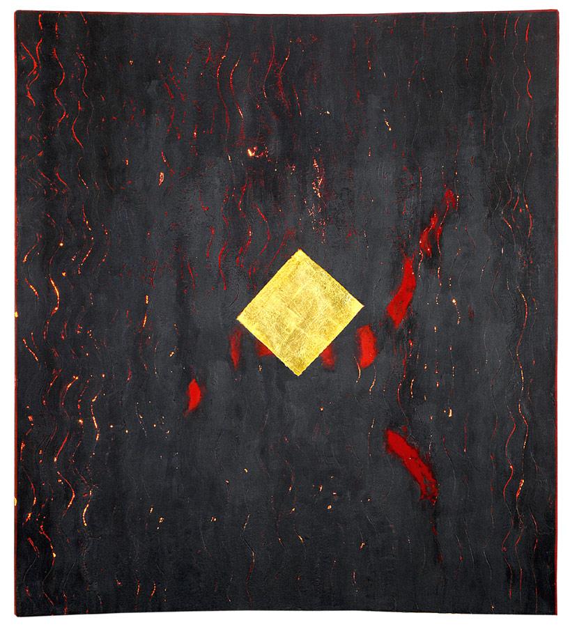 Cavalier-Rouge cire, or, lumière (retro éclairé) 2,29 x 2,56 m, 2007