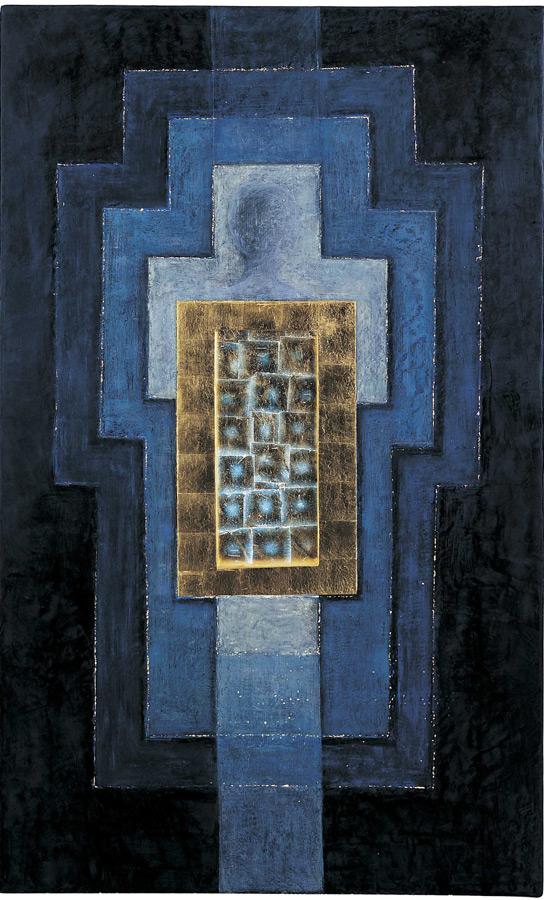 Apocalysis cire, or, lumière (retro éclairé) 2,29 x 2,56 m