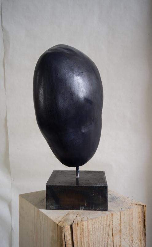 PIERRE DE NUIT, Acheiropoïete n°3, technique : pierre, silice, cire