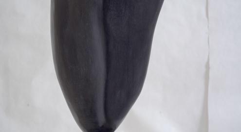 PIERRE DE NUIT Acheiropoïete n°8 sur socle, technique : pierre silice, cire, H : 36 cm