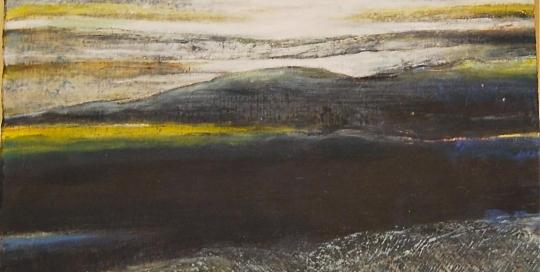 Sans titre, cire sur carton, pigment, 48 x 64 cm, 2012
